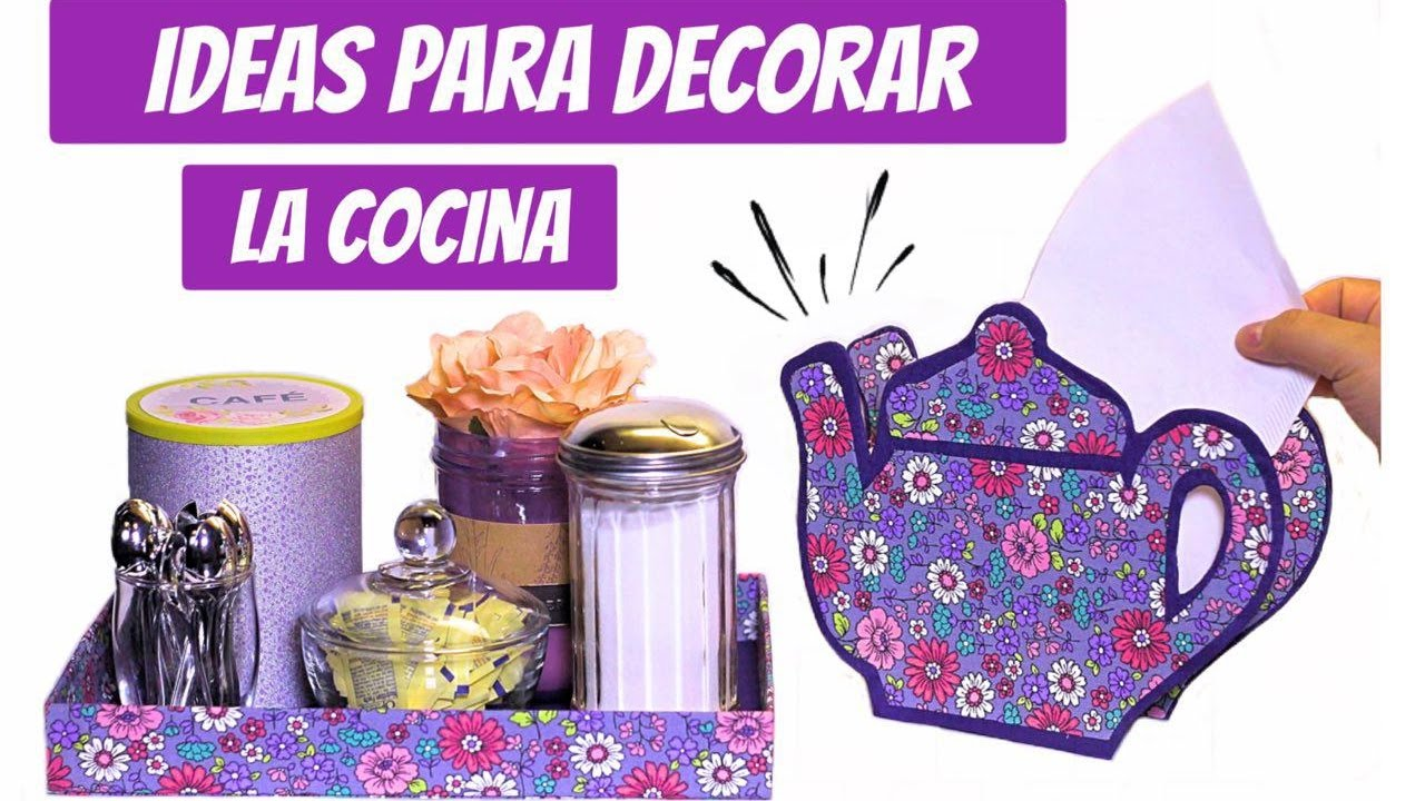 3 ideas para decorar su Cocina con materiales de reciclaje - YouTube
