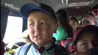Нарын: окуучулардын автобусу