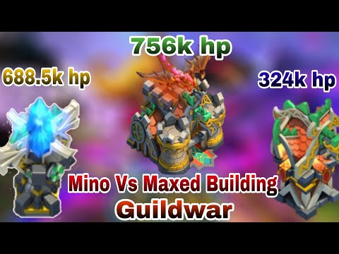 Maxed Leveled Building Vs Mino Bomb | Thrilling Battle | Top-5 | Majestic | Castle Clash