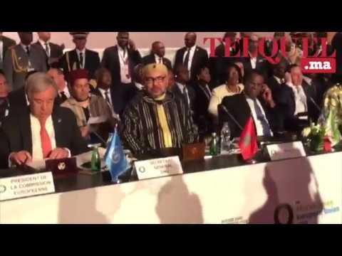 Arrivée du roi Mohammed VI au sommet UE-UA à Abidjan