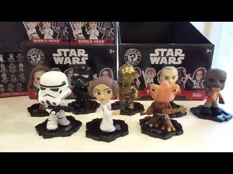 Star Wars Mystery Mini Bobbleheads Unboxing Funko Pop toys