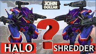 War Robots - Pursuer на Halo и Shredder MK2!