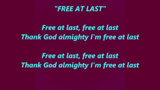 Video FREE AT LAST Thank God Almighty I'm words lyrics popular favorite trending sing along  songs download MP3, 3GP, MP4, WEBM, AVI, FLV Juni 2018