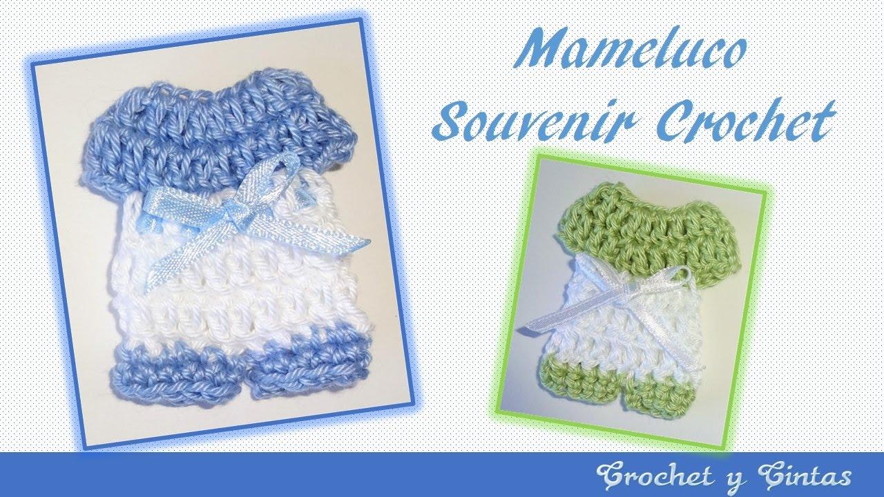 Mameluco crochet souvenir o recuerdo para baby shower – bautizos ...
