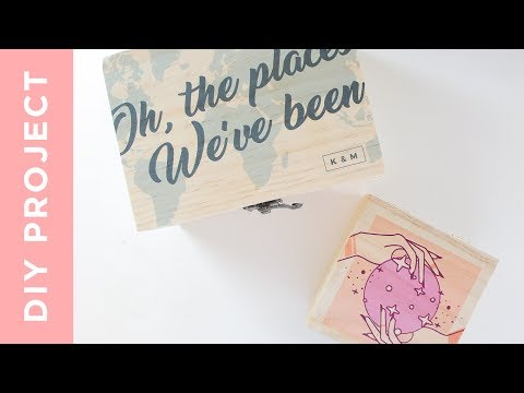 DIY | Photo Design Transfer on Wood Box! - Using Tattoo Paper!