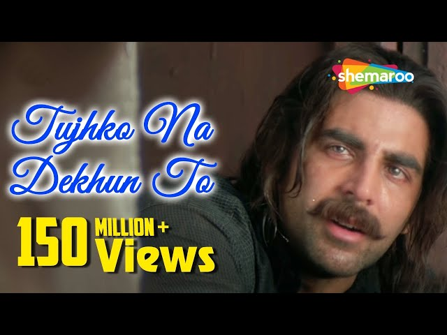 Tujhko Na Dekhun To Dil Ghabrata   Jaanwar Songs HD   Akshay Kumar   Udit Narayan   90's Song