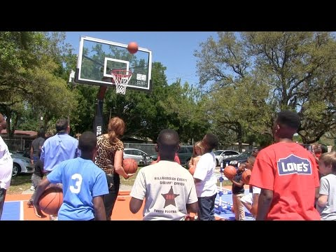 Ribbon Cutting Ceremony of the Dream Court at the Freddie Solomon Boys and Girls Club