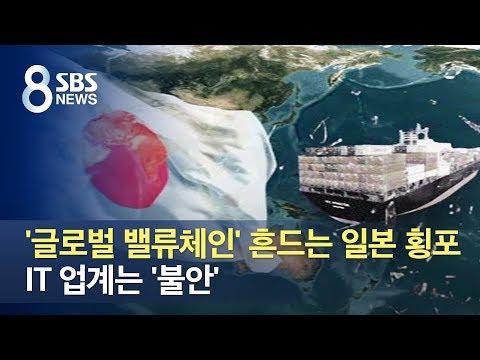 '글로벌 밸류체인' 흔드는 일본 횡포…IT업계는 '불안' / SBS
