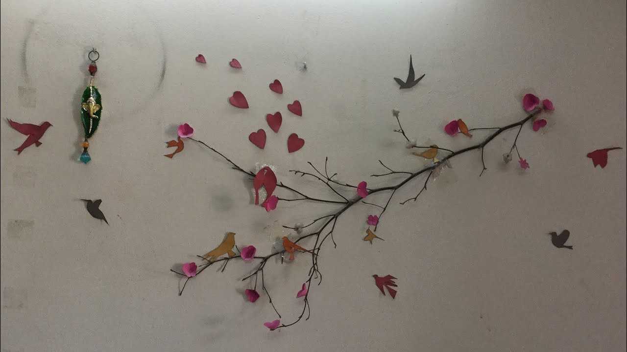 Wall Art Decor Made Out Of Tree Branch