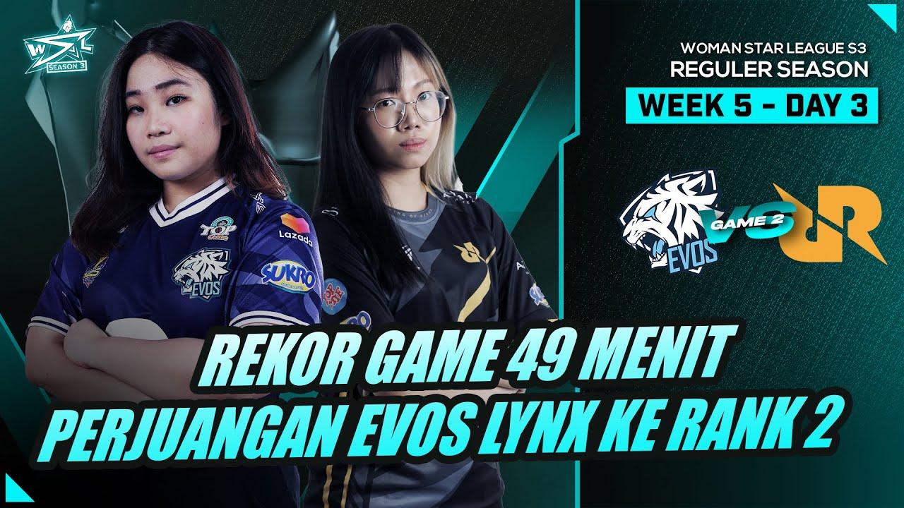 EVOS LYNX VS RRQ MIKA  | GAME 2 - WSL S3 REGULAR SEASON WEEK 5 DAY 3