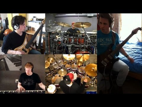 Dream Theater - These Walls (instrumental) split screen cover by Panic Attack