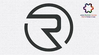Custom Simple Letter Logo Design - Circle Letter R Logo Design - Adobe illustrator Tutorial