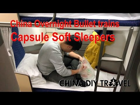 China bullet trains: Capsule soft sleepers