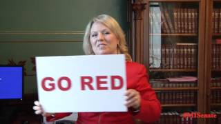 Sen. O'Brien promotes National Wear Red Day