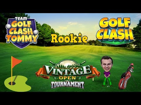 Golf Clash tips, Playthrough, Hole 1-9 - ROOKIE - TOURNAMENT WIND! Vintage Open Tournament!