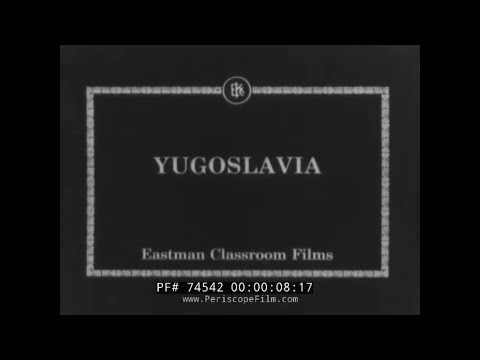 YUGOSLAVIA AND BELGRADE / SERBIA 1930s SILENT FILM TRAVELOGUE  74542