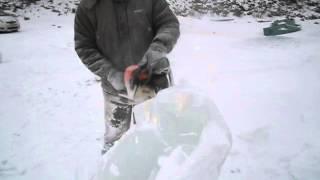 Ледяная скульптура - МЕДВЕДЬ