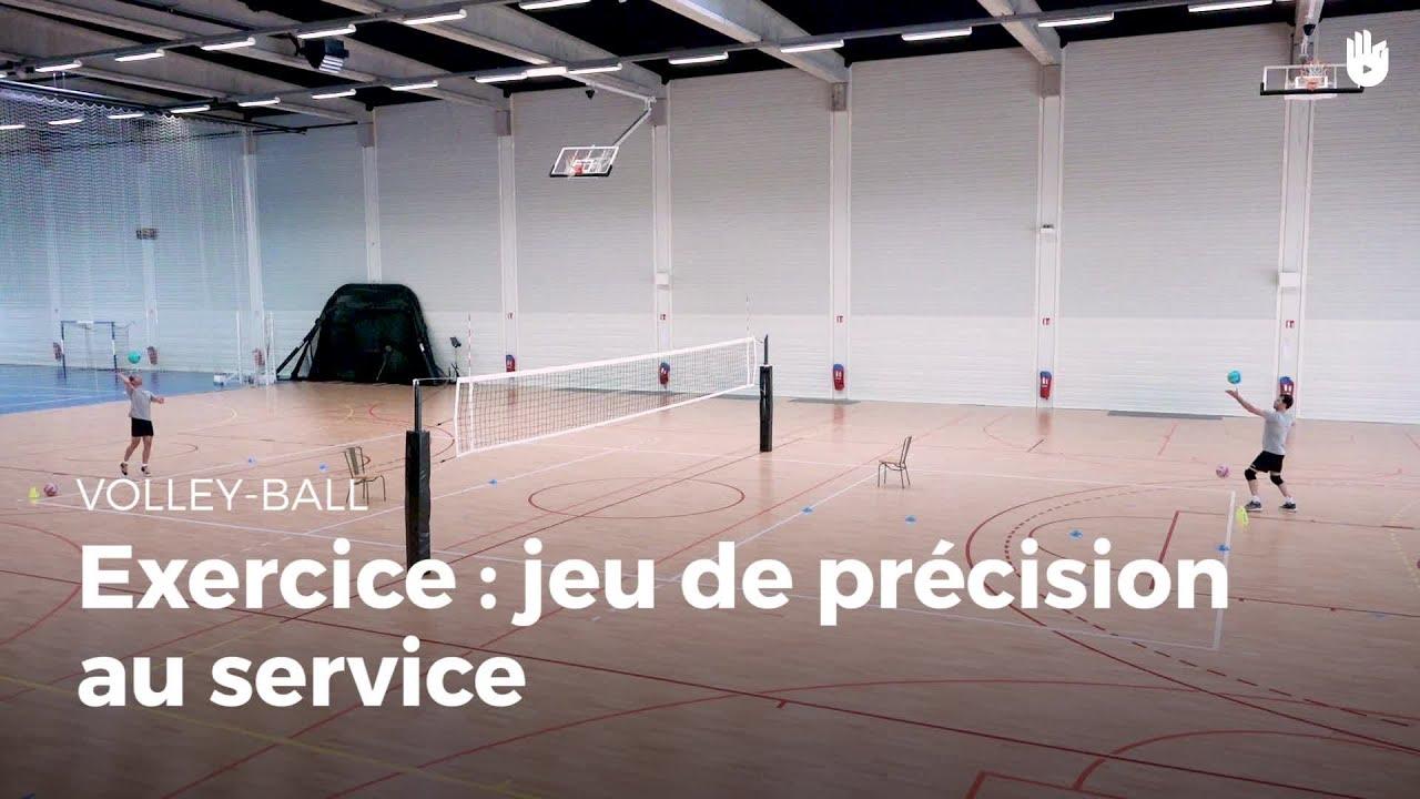 exercice de service jeux de pr cision volley ball. Black Bedroom Furniture Sets. Home Design Ideas