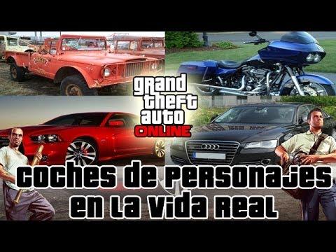 GTA V - Los Coches De Franklin, Michael Y Trevor En La VIDA REAL