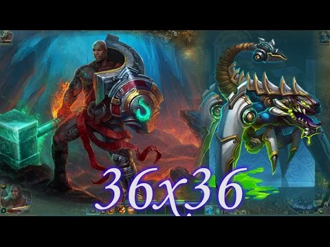 видео: Да'ка (Ха'ка) vs Геноморф (Химера) 36x36 prime world