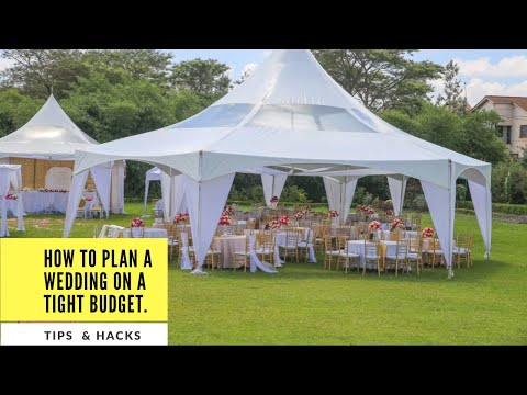 DIY.. . How to plan a wedding on a budget.