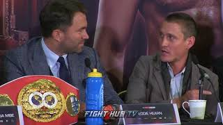 EDDIE HEARN & DAVE HIGGINS HAVE BACK AND FORTH EXCHANGE ON JOSHUA