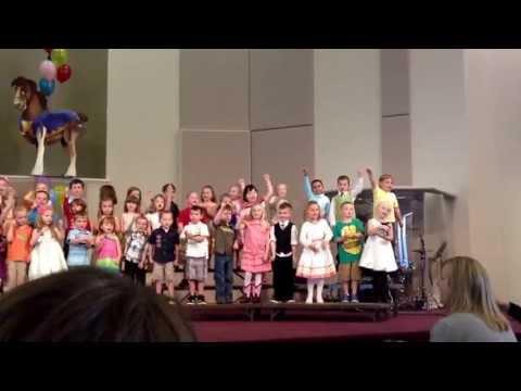Preschool graduation at Grace Christian preschool 2012