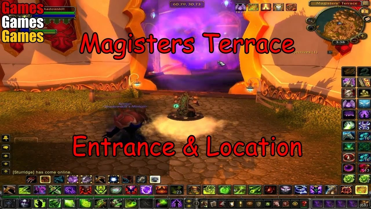 magisters terrace entrance location world of warcraft the burning crusade youtube. Black Bedroom Furniture Sets. Home Design Ideas