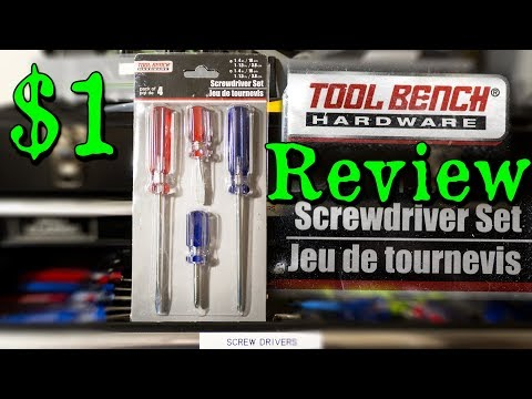 Dollar Store Tool Bench Hardware Screwdriver Set Review