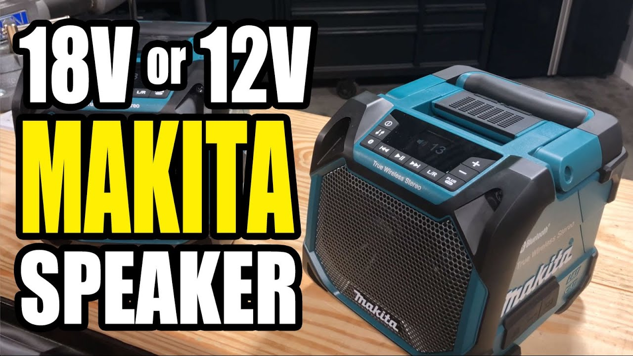 Makita XRM11 Bluetooth Speaker for Job Sites | Sync Up to 10 Speakers Together