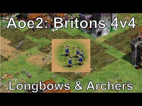 Aoe2: Britons Longbowmen & Archers - Special Map (Border Stones)