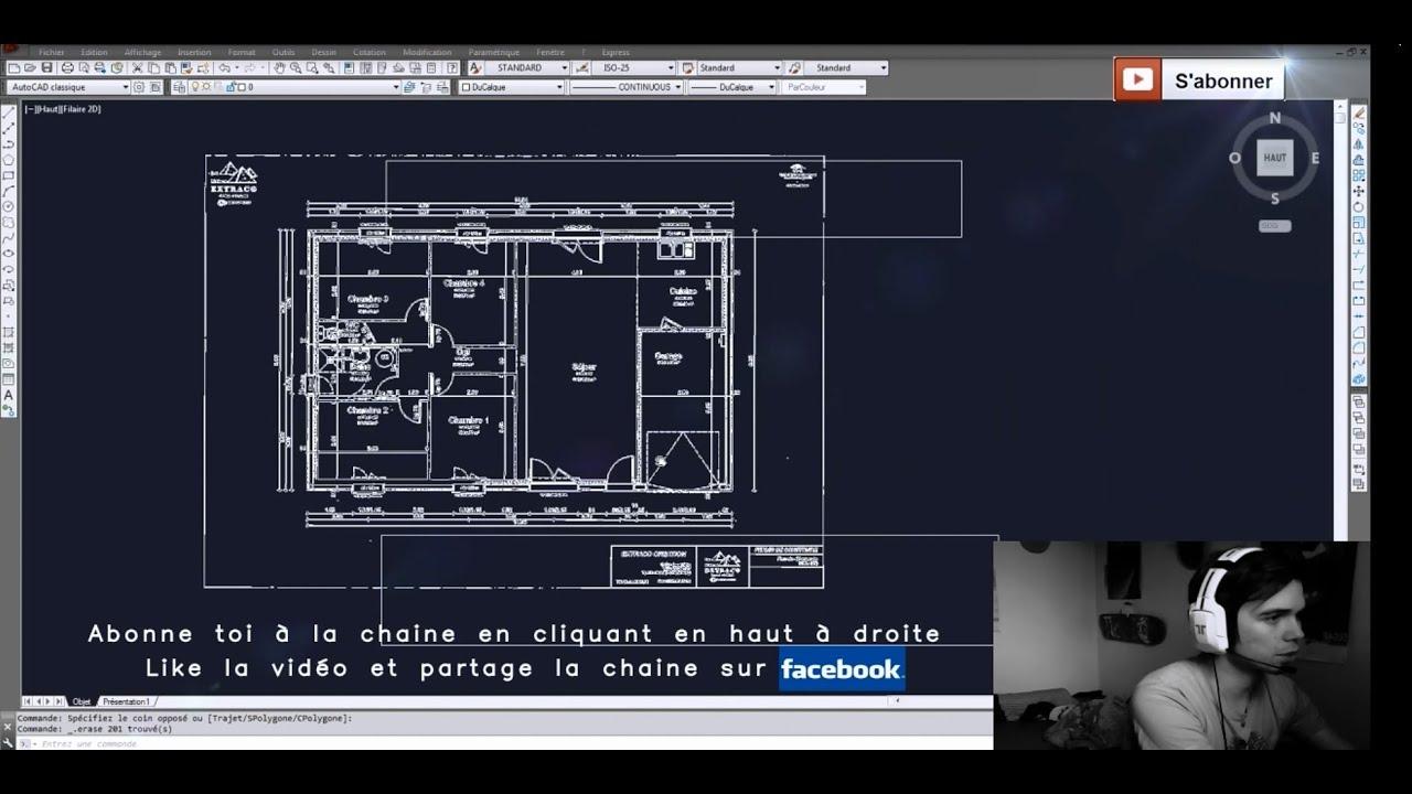 Tuto Autocad INÉDIT Import d'un plan PDF modifiable sur