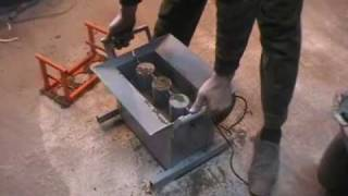 Concrete Block Making Machine BLOX-1 - DIY Do It Yourself - Homemade from drawings