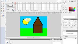 Видеоурок Flash 4  Работа со слоями в 4D
