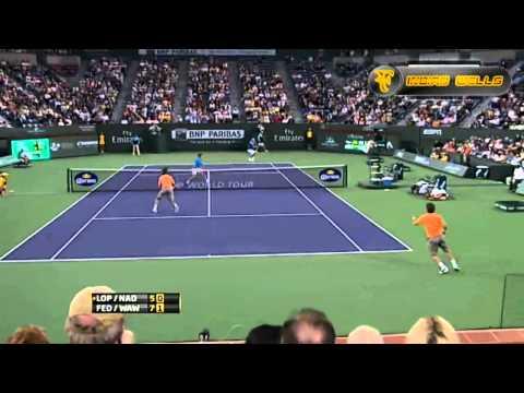 2011 Indian Wells   Federer-Wawrinka Vs Nadal-Lopez HD Highlights