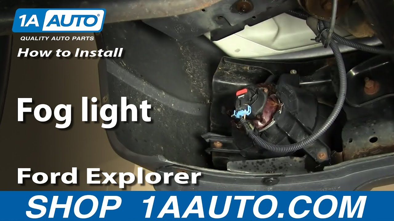 How To Install Replace Fog Light Ford Explorer And Sport