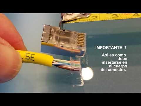 Como hacer patch cord con plugs LanPro 2 partes