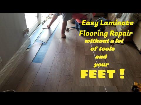 Laminate flooring repair,  How to repair water damaged laminate floor, Laminate floor installation
