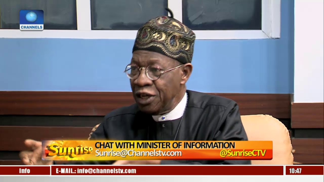 Lai Mohammed Explains 'Real' Reasons Behind Recent Defections From APC Pt.1  Sunrise 