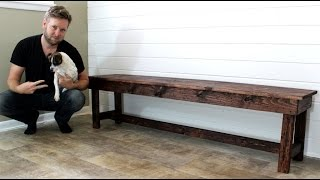 The $20 Farmhouse Bench - Easy DIY Project