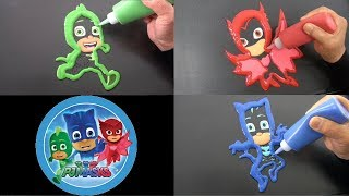 PJ Masks Colorful Pancake Art Painting for Kids