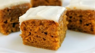 How To Make Pumpkin Bars - Homemade Cream Cheese Frosting