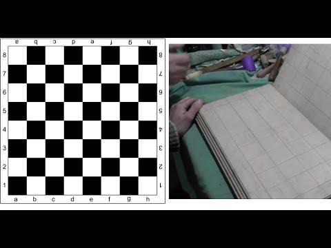 Шахматная доска своими руками, разметка шахматной доски