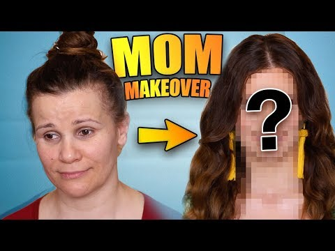I GAVE MY MOM A MAKEOVER! Full Face Makeup, Hair & Outfit!