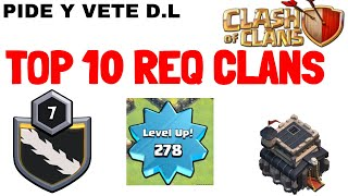 In the TOP 10 REQ Clan ranking OF the WORLD😍🔥 | Lets play clash of clans👌🤟 | Req n Leave |