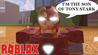 EFC IS THE SON OF TONY STARK IN IRON MAN 4!!| ROBLOX Simulator