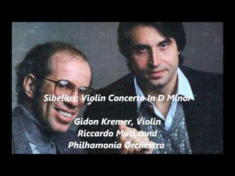 sibelius, violin concert, Gidon Kremer