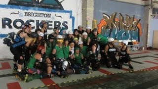 Roller Derby Vlog: Brighton Rockers vs Buck Bucks High Rollers Bout