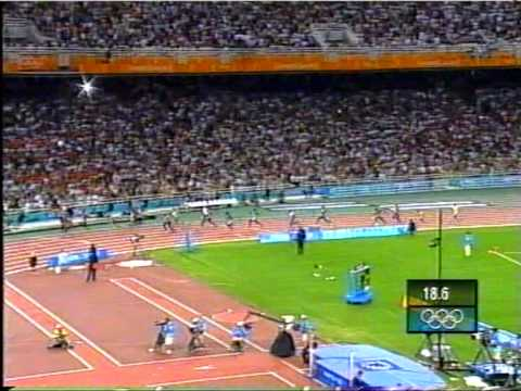 2004 Athens Summer Olympics Mens 4x100 Relay UK win Gold
