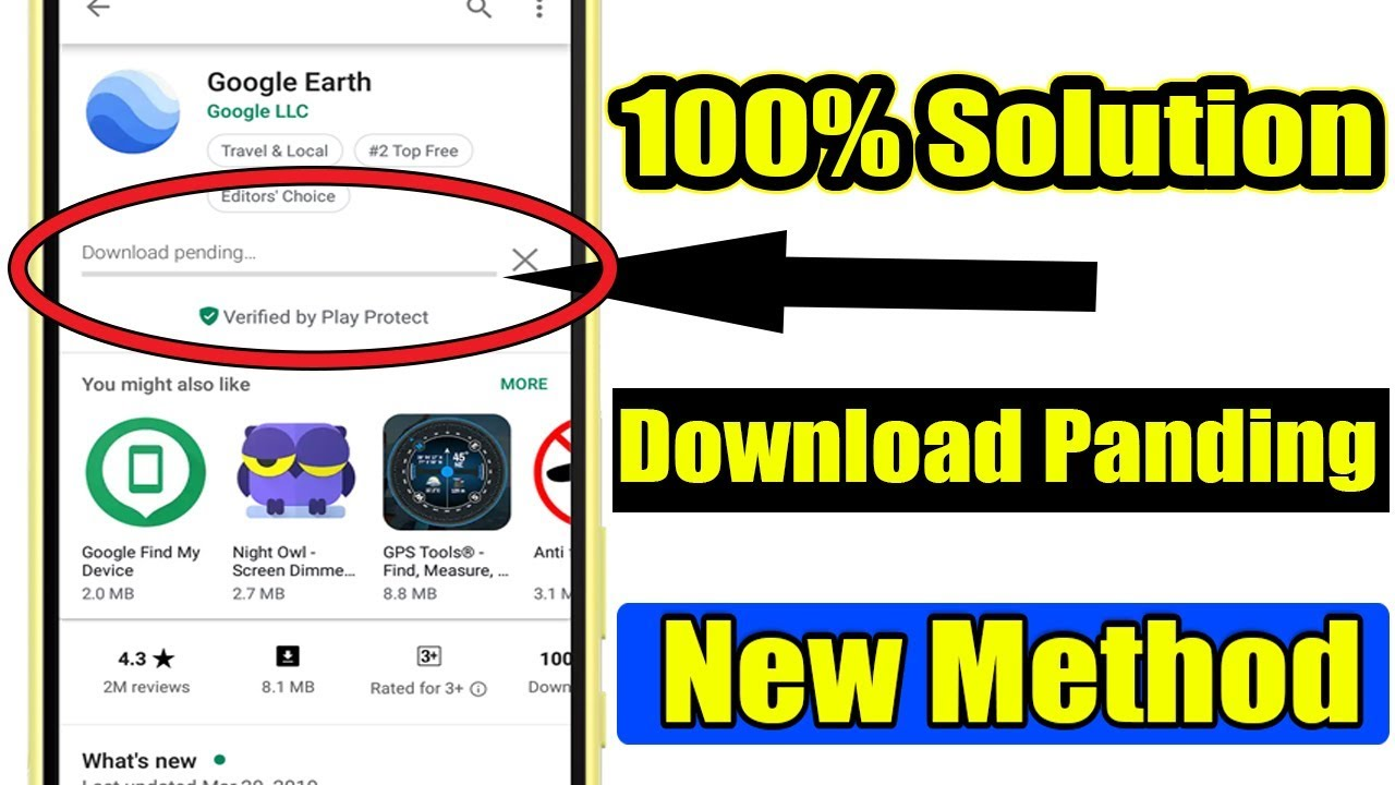 Fix Play Store Download Pending Problem - New Method 100% Working